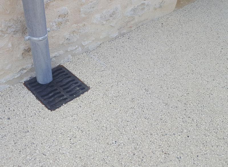 details beton désactive évacuation eau
